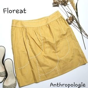 💝🌷 Anthropologie Floreat - Yellow Bean Skirt 💋